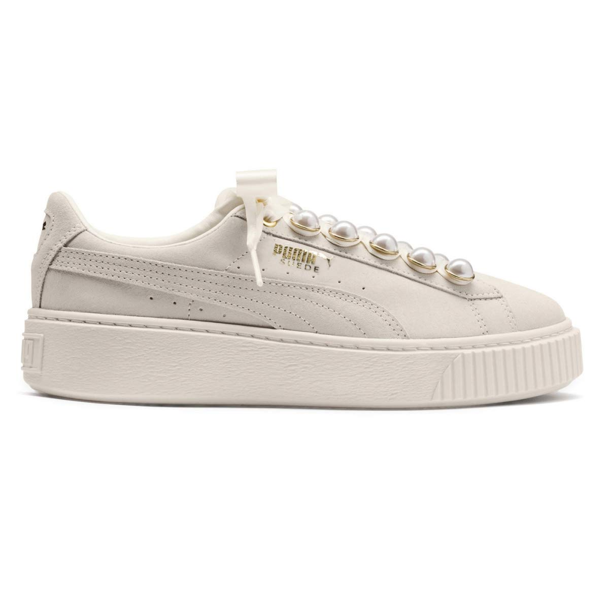 cheap for discount 762a3 11d94 Puma Suede Platform Bling Trainers Natural: Amazon.co.uk ...