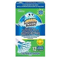 Scrubbing Bubbles Toilet Fresh Brush Flushable Refills, 12 Count