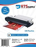 975 Supply - 5 Mil Clear Menu Size Thermal Laminating Pouches - 12'' X 18'' - 100 Pouches