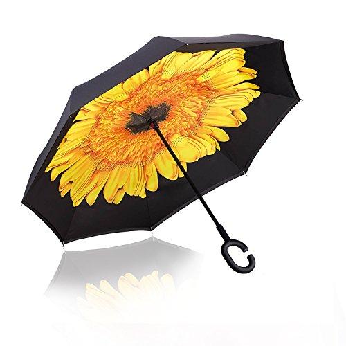 Reverse Folding Umbrella Windproof Protection product image