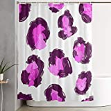 Pink Leopard Print Shower Curtain LCXYULIAN Home Decor Shower Curtain- Pink Leopard Print Art Print, Polyester Fabric Bathroom Decorations Collection with Hooks-60 X 72 Inch