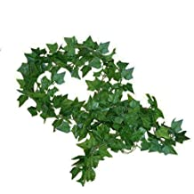 192 Feet - 24 Artificial Ivy Artificial Vines Fake Hanging Ivy English ivy Silk Greenery Wedding Party Garlands