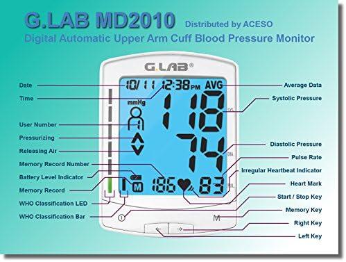 G.LAB Digital Automatic MD2010 Upper Arm Cuff Blood Pressure Monitor 51gty3xWIvL