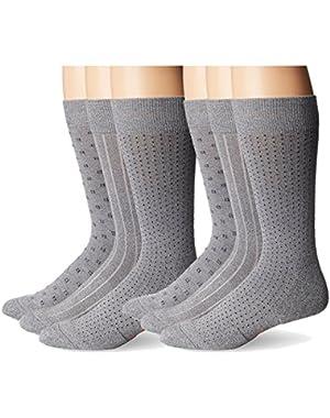 Men's Cushioned Ultimate Fit Crew Socks, 6 Pair