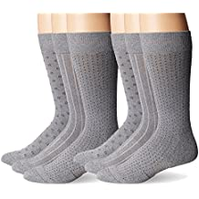 Dockers Men's Cushioned Ultimate Fit Crew Socks, 6 Pair