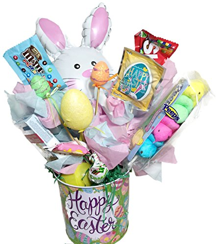 Easter Bouquet Basket Decorated Assorted