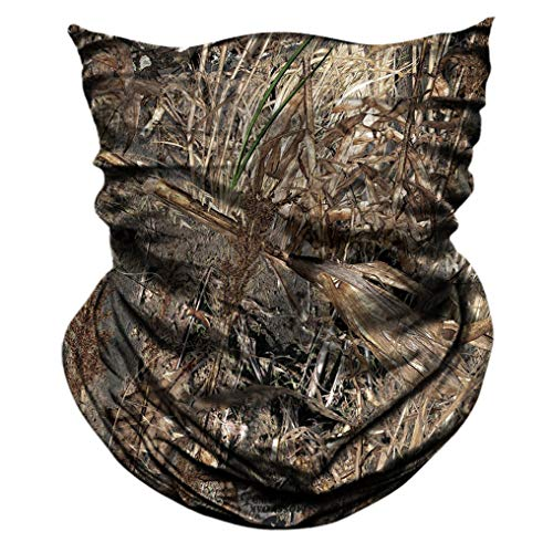 AXBXCX 2 Pack - Camouflage Print Seamless Neck Gaiter Bandana Face Shield Mask Headband Headwear Sweatband Wristband Scarf for Fishing Hiking Hunting Cycling Motorcycle Riding Skiing Outdoor Sport 054 from AXBXCX