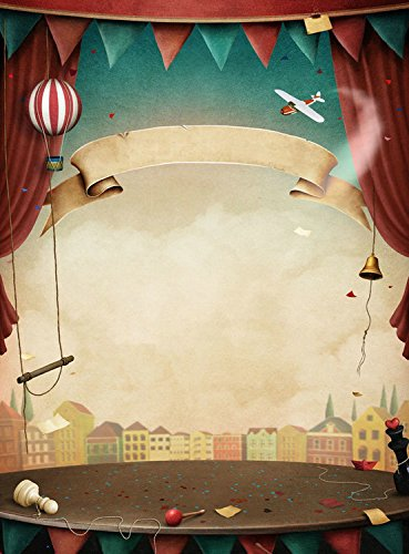 5x7ft Vinyl Cartoon Circus Stage Curtain Photography Studio Backdrop Background
