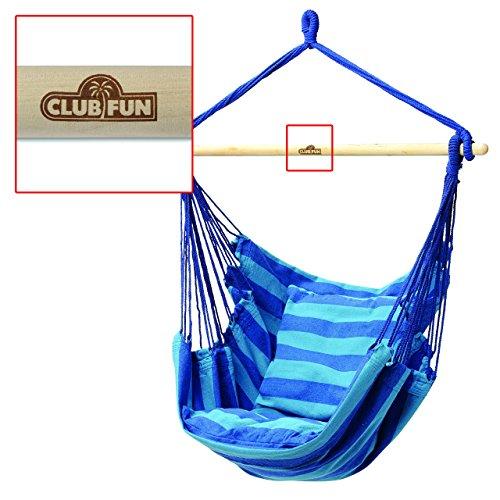 Club Fun Hanging Rope Chair - Blue