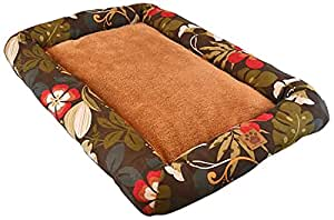 Precision Pet 1000 Low Bumper Crate Mat, 18 by 14, Simply Suede, Floral