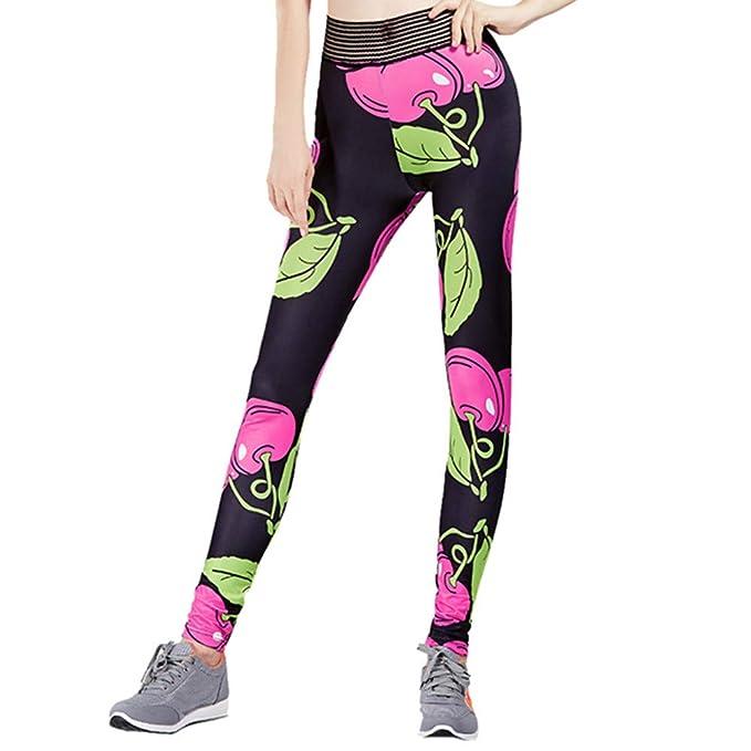 VPASS Mujer Pantalones, Elásticos Impresión Moda Pantalones ...