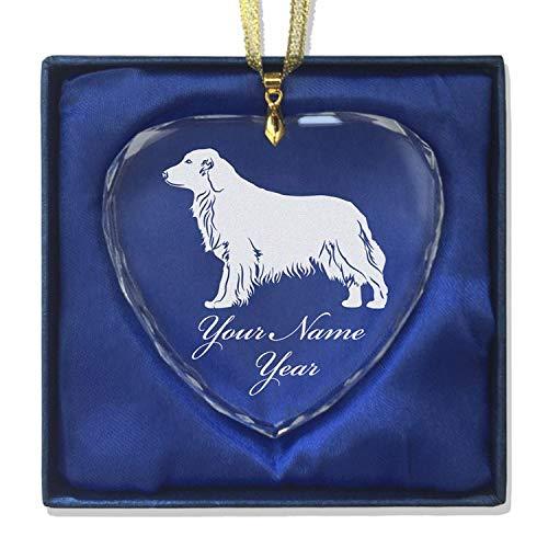 - LaserGram Christmas Ornament, Golden Retriever Dog, Personalized Engraving Included (Heart Shape)