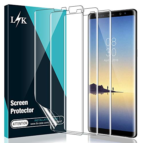 [3 Pack] L K Screen Protector for Samsung Galaxy Note 8, [Self Healing] [Full Coverage] HD Effect Flexible Film, Lifetime Replacement Warranty