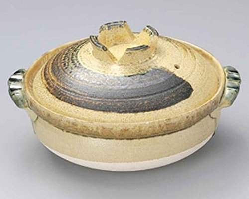 Brush for 2-3 persons 8.7inch Donabe Japanese Hot pot Beige Ceramic Made in Japan by Watou.asia