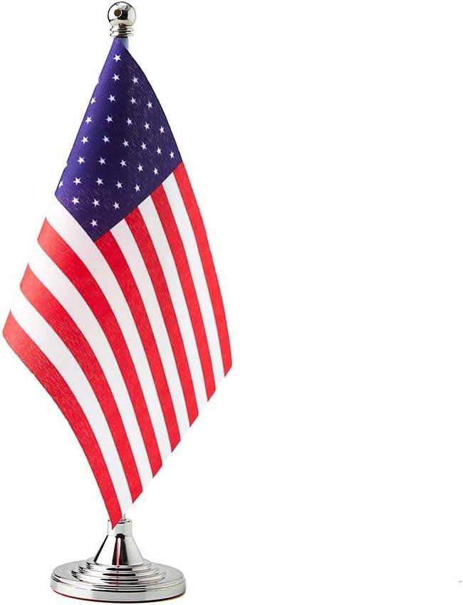 USA Flag American Table Desk Small Mini Flags Decorations
