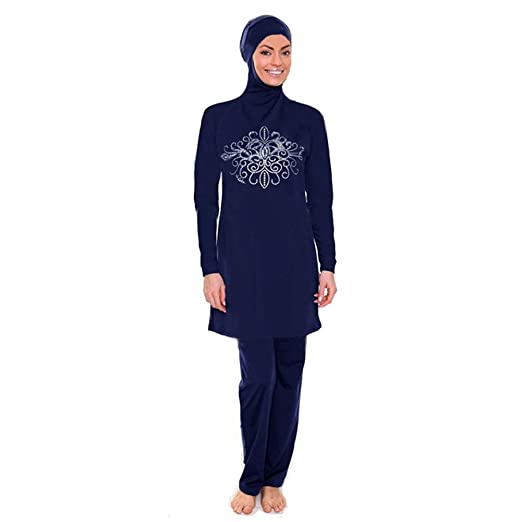 3c935b8ae9 YONGSEN Modest Women Muslim Swimwear Plus Size Islamic Swimsuit Beach Wear  Burkini at Amazon Women s Clothing store