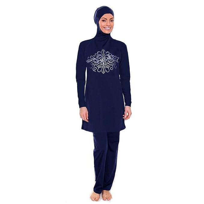 Amazon.com: yongsen modesto Mujeres Musulmanas bañadores ...