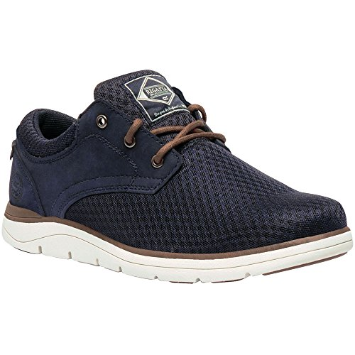 Regatta Mens Caldbeck Lite Breathable Padded Nubuck Mesh Trainers Navy/Partrid