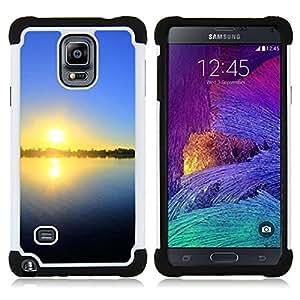 - Sunset Beautiful Nature 27/ H??brido 3in1 Deluxe Impreso duro Soft Alto Impacto caja de la armadura Defender - SHIMIN CAO - For Samsung Galaxy Note 4 SM-N910 N910