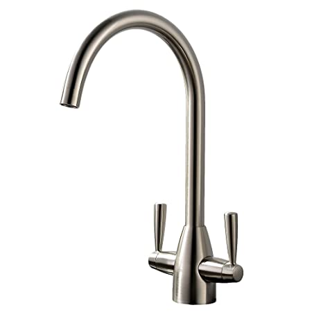 Vapsint Well Worth Buying Brushed Nickel Swivel Spout Dual Lever