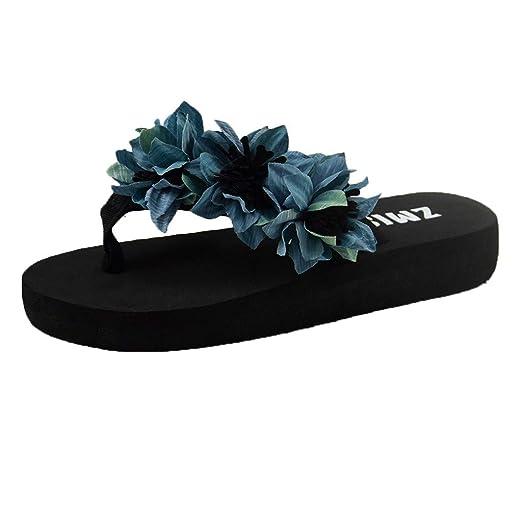 f13fb59dabbe2 Amazon.com: {Minikoad}Women Flat Bottom Sandals,Ladies Beach Flip ...