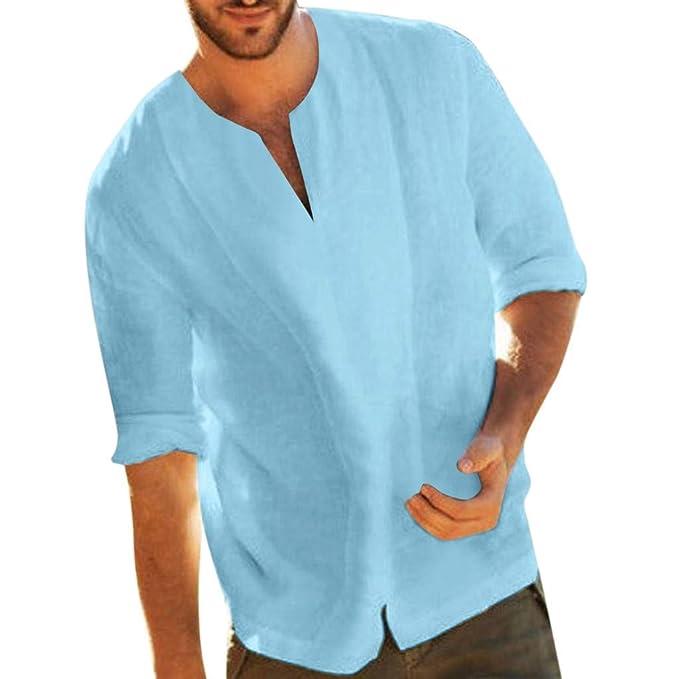 Camisa ibicenca de caballero decorada con cuello mao Ibicenka