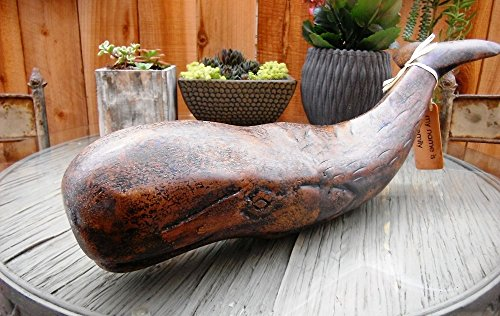 Nautical Decor Artisan Wooden Whale, 18 Inches Length