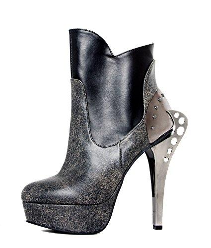 Hades Nocturne Cyber Schuhe Layered Stone Ankle inspiriert zwei Ton Bootie Vintage qAArEw