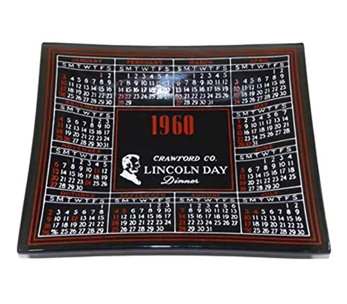 Vintage 1960 Crawford County Pennsylvania Lincoln Day Dinner Commemorative Trinket Tray -