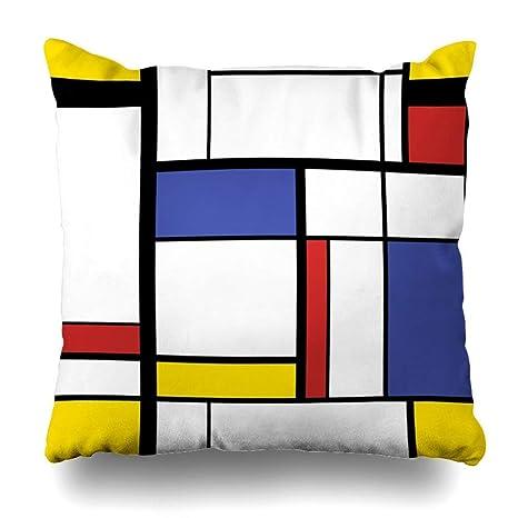 ZiJface Throw Pillows Covers Black Bauhaus Abstract Modern ...