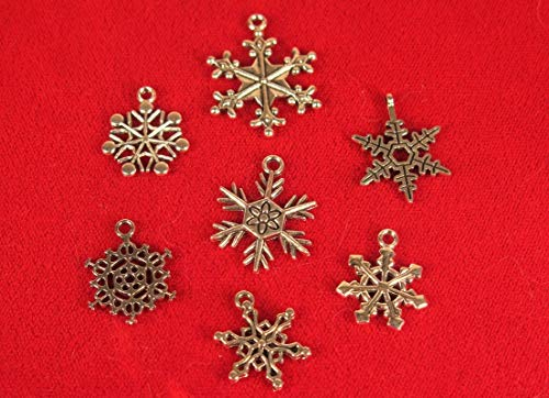 Lot of 30pc Snowflake Mixed Jewerly Making Charms Supplies DIY for Necklace Bracelet and Crafting by CharmingSS ()