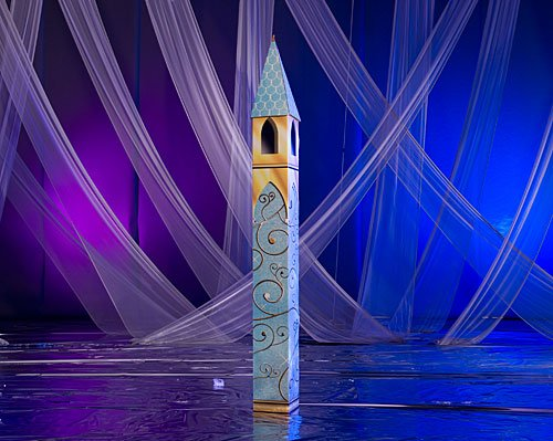 Shindigz Fairytale Castle Tower Cinderella Party Prop Standup Photo Booth Prop Background Backdrop Party Decoration Decor Scene Setter Cardboard Cutout