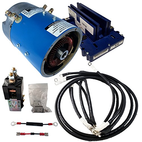 Golf Cart Motors - EZGO Golf Cart Motor & Controller for Speed : Series (ITS) Throttle : 19-21 mph & +5% Torque - 170-006-0001 Motor w/ 400 Amp Controller (Blue Option) includes Solenoid & Wire kits (400 Amp Controller)