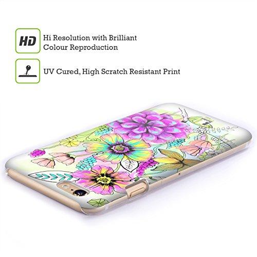 Head Case Designs Germoglio Tropicale Fiori Acquarellati Cover Retro Rigida per Apple iPhone 7 / 8
