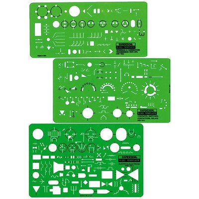 Electrical and Electronic Template (Set of 3)