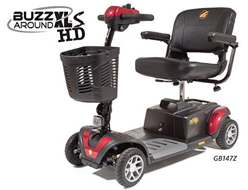 Golden Technologies - Buzzaround XLS HD - Travel Scooter - 4-wheel - Red