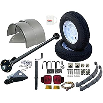 Amazon utility trailer parts kit 3500 lb single axle trailer utility trailer parts kit 3500 lb single axle trailer 85 hub face 70 spring center 6 wide model 1110 deluxe solutioingenieria Gallery