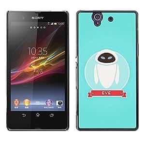 Be Good Phone Accessory // Dura Cáscara cubierta Protectora Caso Carcasa Funda de Protección para Sony Xperia Z L36H C6602 C6603 C6606 C6616 // Character Space Blue Cute