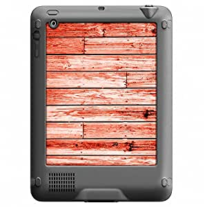 Skin Decal for LifeProof Nuud Apple iPad Gen 2/3/4 Case - Red Wood Floors