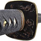 Handmade Sword Hand Forged Carbon Steel Black Wooden Scabbard Samurai Katana Sword – Warrior and Fuji