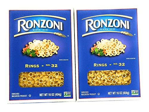 Ronzoni Rings Pasta - 2 Pack! Perfect For Any Pasta Dish!