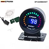 EPMAN 52mm Digital Color Analog LED PSI/BAR Turbo Boost Gauge Meter With Sensor Monitor Racing Gauge