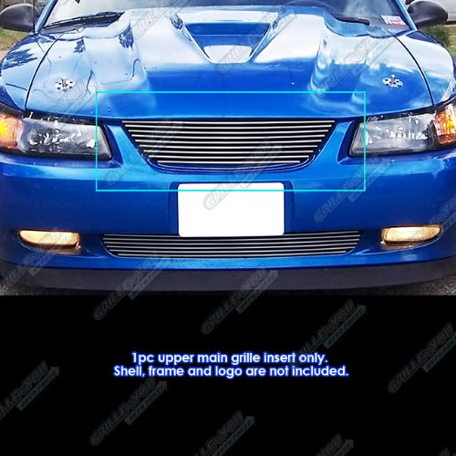 - APS F86009A Polished Aluminum Billet Grille Replacement for select Ford Mustang Models