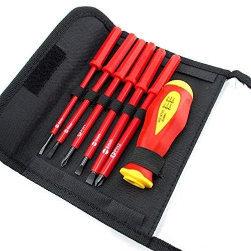 絶縁ドライバーセット7ピースミルウォーキー電気電気技師ハンドツール多機能オープニング修理精密ツールセット (Color : Hot sale)