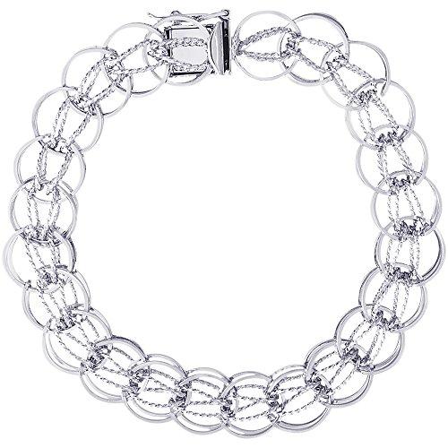 Sterling Silver Fancy Charm Bracelet, 7 inch, Charm Bracelets for Women & Girls by CharmsToTreasure Bracelets