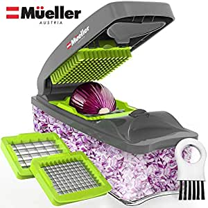 Mueller Onion Chopper Pro Vegetable Chopper - Strongest - NO MORE TEARS 30%  Heavier Duty Multi Vegetable-Fruit-Cheese-Onion Chopper-Dicer-Kitchen