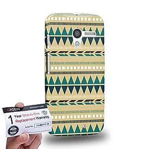 Case88 [Motorola Moto X (1st Gen)] 3D impresa Carcasa/Funda dura para & Tarjeta de garantía - Art Carpet And Tapestry Aztec Carpet A