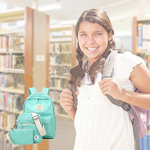 SymbolLife Zaino Leggero Spalla del Computer Zaino Stile Tela-Tracolla / Informale Scuola e Matita