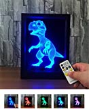 L&T STAR 3d Small Photo Frame Light Dinosaur Touch Remote Control Colorful Products Led Lamp Night Light