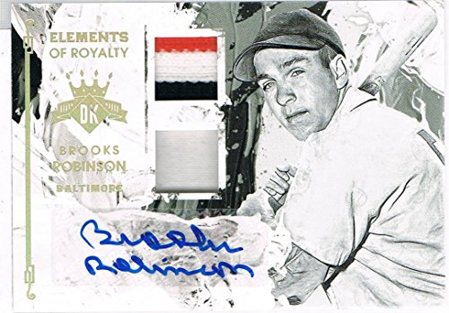 2016 Panini BROOKS ROBINSON # 22 Diamond Kings Elements of Royalty Material Signatures Gold Patch Autograph #d 2/5
